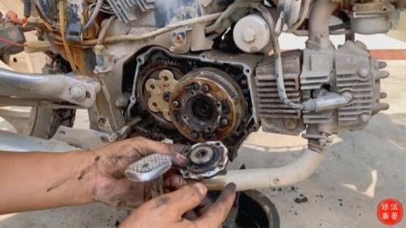 弯梁摩托车离合器安装,只要学会这几个技巧,自己在家也能搞定