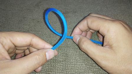 看似简单的绳子打结,受力后极其牢固