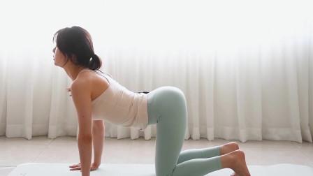 瘦腰收腹的瑜伽练习,针对腹部燃脂塑型,打造S型完美身材