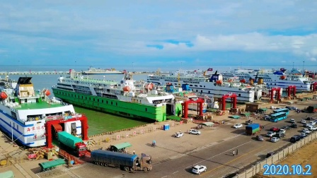 航拍海口港(1080p版本)2020.10.2