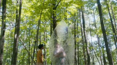 情侣外出游玩,在森林发现块透明板子,好奇靠近最后被吓到