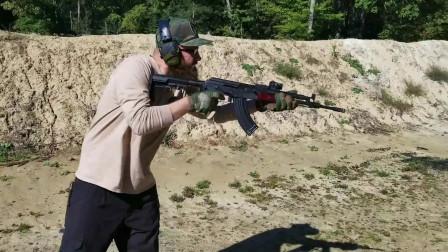 破坏力巨大的AK系列突击步枪,看看它射击就明白了