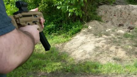 颇具特色的SIGMPX冲锋枪,弹匣供弹靶场射击评测