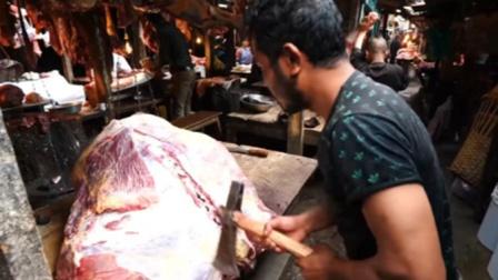 印度人怎么卖猪肉的?看完你还能吃得下去吗?