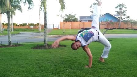 巴西战舞Capoeira 单人Flow健身动作套路(Chapéu de couro - Rolê quebrado - Aú de coluna)
