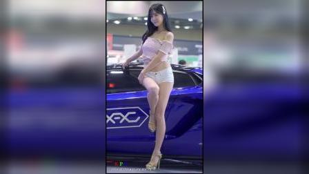 4k赛车模特崔瑟琪汽车沙龙周R