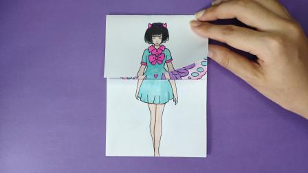 如何用一张纸手绘王默变身蝴蝶仙子,会是啥样?趣味精灵梦叶罗丽