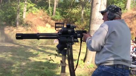 多管加特林机枪,论射速能排前三,弹药消耗量就跟流水似的
