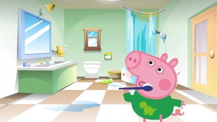 佩奇不听乔治劝阻不刷牙,结果连牙齿都掉了,哈哈!