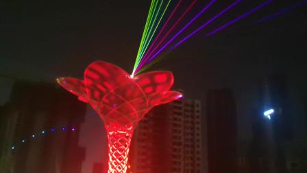 万圣激光助力漯河大型灯光秀十月一上演沙河之畔