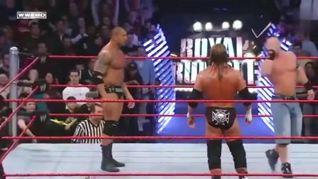 WWE精彩回顾:巴蒂斯塔未能坚持到最后,塞纳击败HHH强势登顶