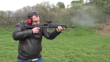AK-74步枪靶场实弹射击评测,性能可靠威力大!