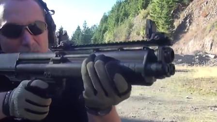 KSG无托结构泵动式霰弹枪,独特的拉栓声音好听极了