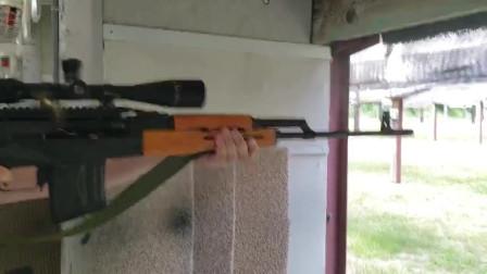 PSL狙击步枪,弹匣装弹十发,靶场射击评测
