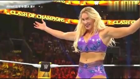 WWE精彩回顾:女皇实力就是强,不到五秒就一脚踢懵现任冠军!
