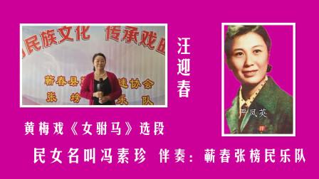 黄梅戏《女驸马》选段-民女名叫冯素珍  演唱:汪迎春( 蕲春张榜民乐队 )