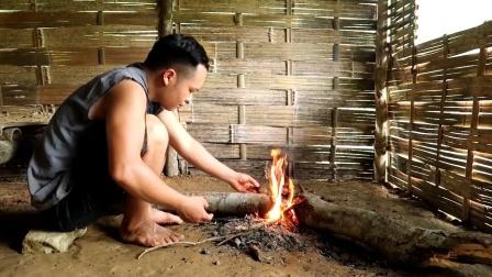 原始技术,越南小哥赵晖路,每天在野外都干了些什么?