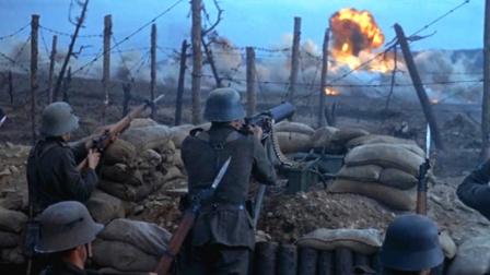 经典一战大片:战斗机外挂炸弹轰炸英军阵地