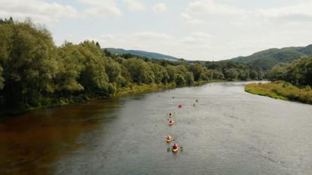 沿桑河乘皮划艇,尽情放松,享受两岸风光