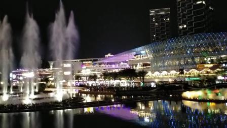 2020年国庆,中秋节海上世界灯光音乐喷泉。