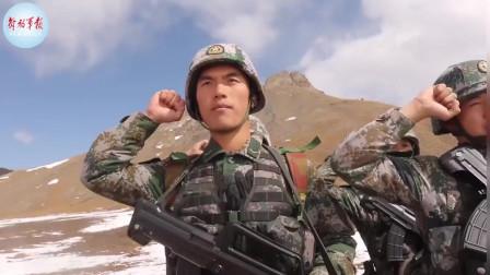 实拍解放军边防部队国庆在艰险的边防线巡逻,因为有你们,假期我们才能尽情游玩