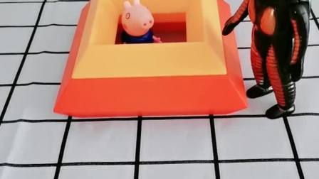怪兽把乔治抓起来了,汪汪队来救他,把怪兽关进去了