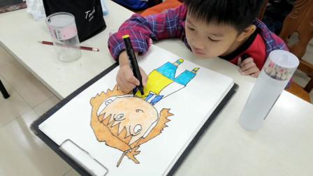 儋州市文化馆美术卡通画班学习剪影之四