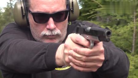 最好的手枪之一:M1911,靶场实弹射击测试,性能可靠不输伯莱塔