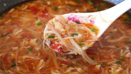 入秋天凉,教你做地道的三丝酸辣汤,口感酸爽,暖身暖胃,真香