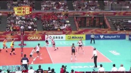 中国女排棒极了,朱婷后排强攻得手,大比分赢下美国队