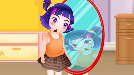 小紫悦搬起了镜子,她要搬去哪呢?小马国女孩游戏