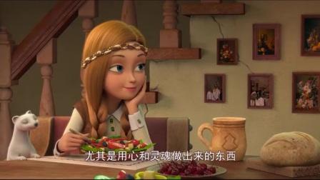 冰雪女王:凯在画小鸟,突然小鸟复活了,这魔法好神奇呀