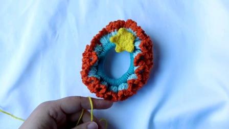 钩针公主发圈星星⭐️装饰编织教程