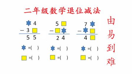 二年级数学,学会这3道退位减法题,宝妈不再担心计算题
