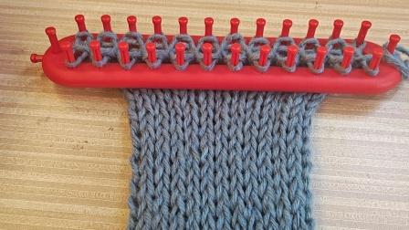 编织神器编织元宝针围巾的视频教程