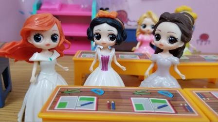 白雪公主故事 白雪她们玩词语接龙,白雪和美人鱼赢到了最后