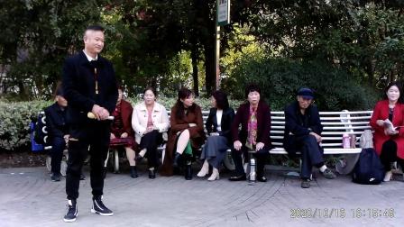 西苑公园胡红报戏剧平台节目 下位去劝一劝贵妃娘娘,洛阳郑小兵演唱