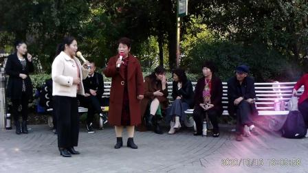 西苑公园胡红报戏剧平台节目 豫剧《打金枝》唱段 皇妃对唱