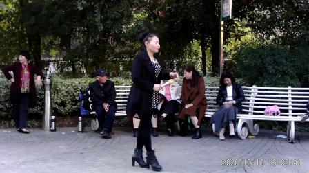 西苑公园胡红报戏剧平台 (秋江河下水悠悠)洛阳陈杏演唱