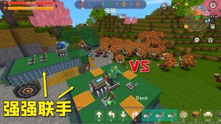 迷你世界:小表弟跟我强强联手,2辆战车同时出击,怪物接连败退