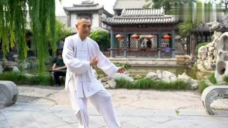 民间武术大叔公园晨练传统武术二十四式太极拳!
