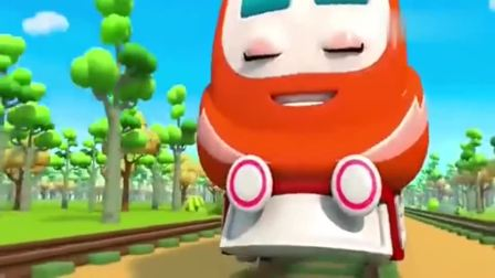 宝宝巴士:少儿电力火车为炫耀,加快速度,结果螺丝掉了