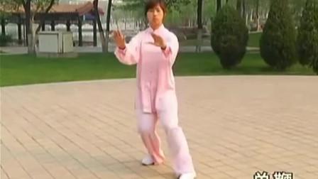 靳菲老师公园晨练杨式太极拳八十五式!