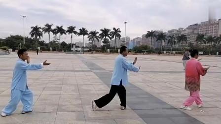 武术师傅现场演练陈式太极拳四十式!