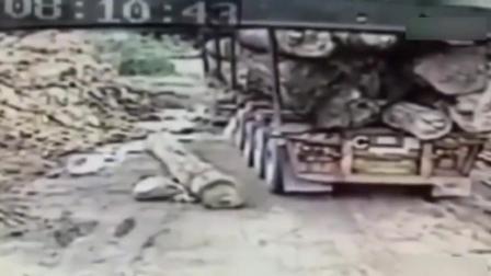 大货车司机正卸货,没来得及反应命就没了