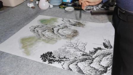 小山水《秋清泉气香》作画过程