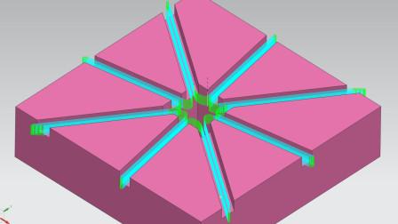 免辅助体,四边环形不提刀路径