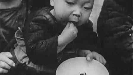 解放前的上海,饿殍满地,贫富差距巨大