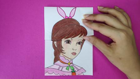 如何用一张纸手绘小舞平民和公主发型?对比区别哪个好看斗罗大陆