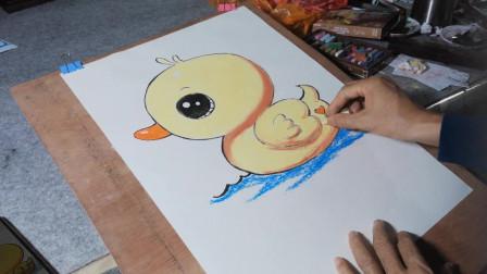 画一个可爱的小黄鸭